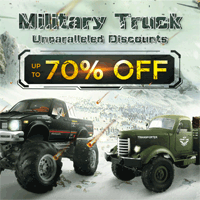 Banggood: 12% Off Military Truck Unparalleled Discounts