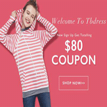 TBdress: Get $80 Coupon