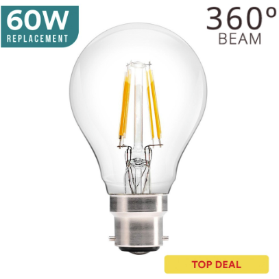 Wholesale LED Lights: Dimmable B22 6W OMNI-LED Bulb, Clear Globe For £6.12